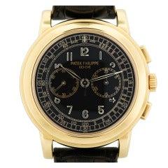 Patek Philippe Yellow Gold Chronograph Wristwatch Ref 5070J
