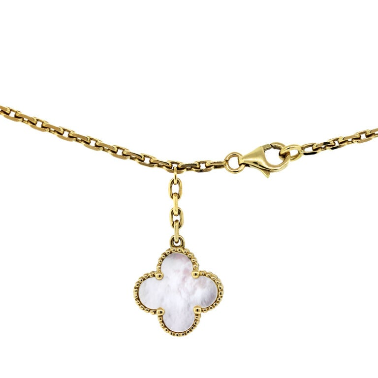 cleef and arpels magic alhambra necklace with pendants