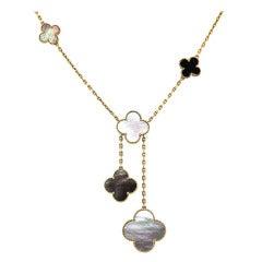 Van Cleef & Arpels Magic Alhambra Necklace With Pendants