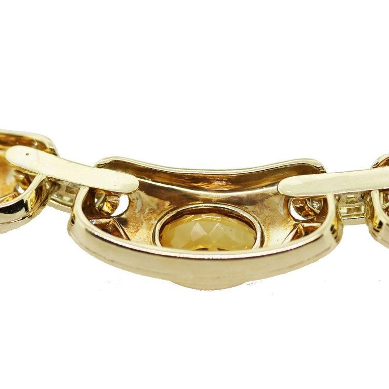Women's GUCCI Citrine Sapphire Diamond Yellow Gold Necklace