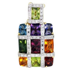 BELLARI Yellow Gold, Diamond Semi-Precious Gemstone Pendant