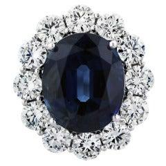8.56ct Sapphire Diamond Ring
