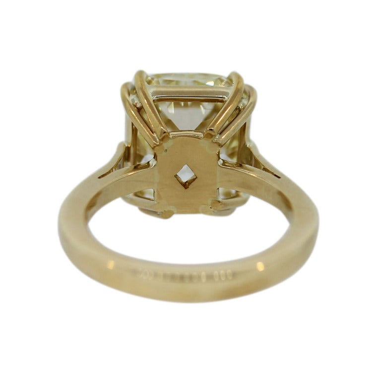 7 Carat Radiant Cut Fancy Yellow Diamond Engagement Ring image 5