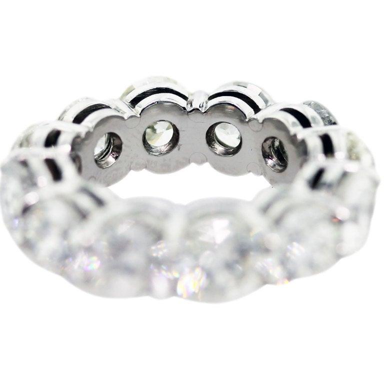 Women's 11 Carat Round Diamond Platinum Eternity Ring