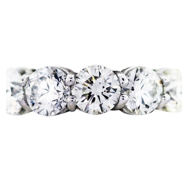 11 Carat Round Diamond Platinum Eternity Ring