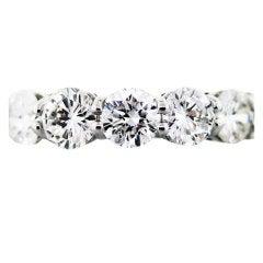 Platinum Round Brilliant Cut Diamond Eternity Ring 6.5ctw