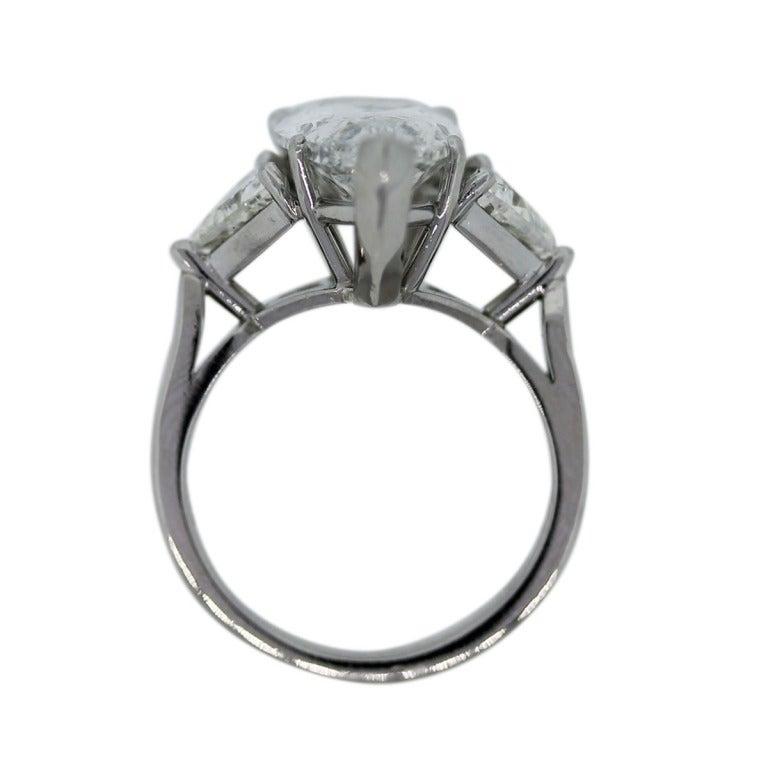 pear shaped three platinum engagement ring at 1stdibs