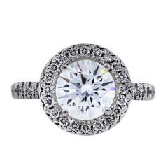 1 Carat Round Brilliant GIA Certified Diamond Engagement Ring