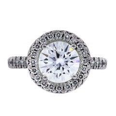 1 Carat Round Brilliant GIA Certified Diamond Engagement Ring