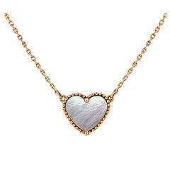 Van Cleef & Arpels Sweet Alhambra Pendant on Rose Gold Chain