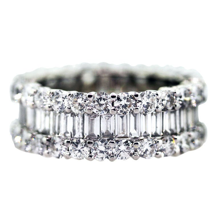 5 Carat Diamond Eternity Ring Wedding White Gold Band At