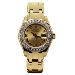 ROLEX Lady's Yellow Gold Masterpiece Wristwatch Ref 80298