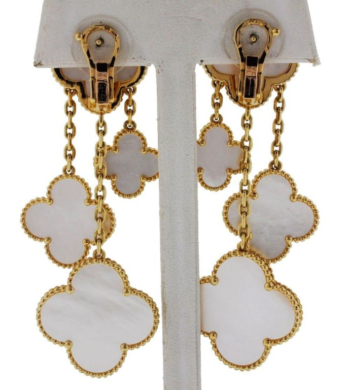 Van Cleef Clover Earrings Magic Alhambra Earrings 3 Motifs