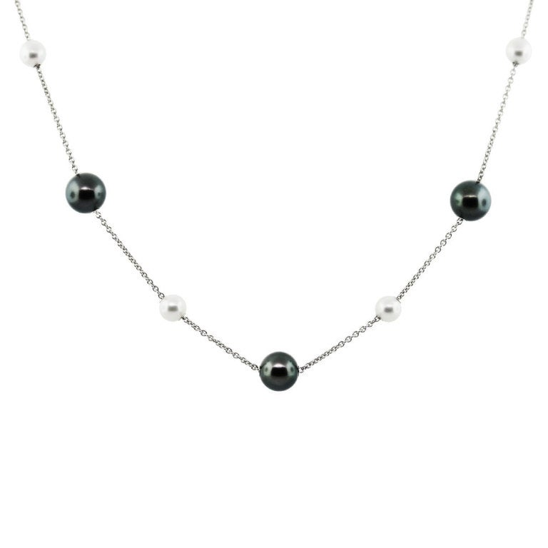 Mikimoto Pearls in Motion Black South Sea Akoya Pearls Necklace image 2