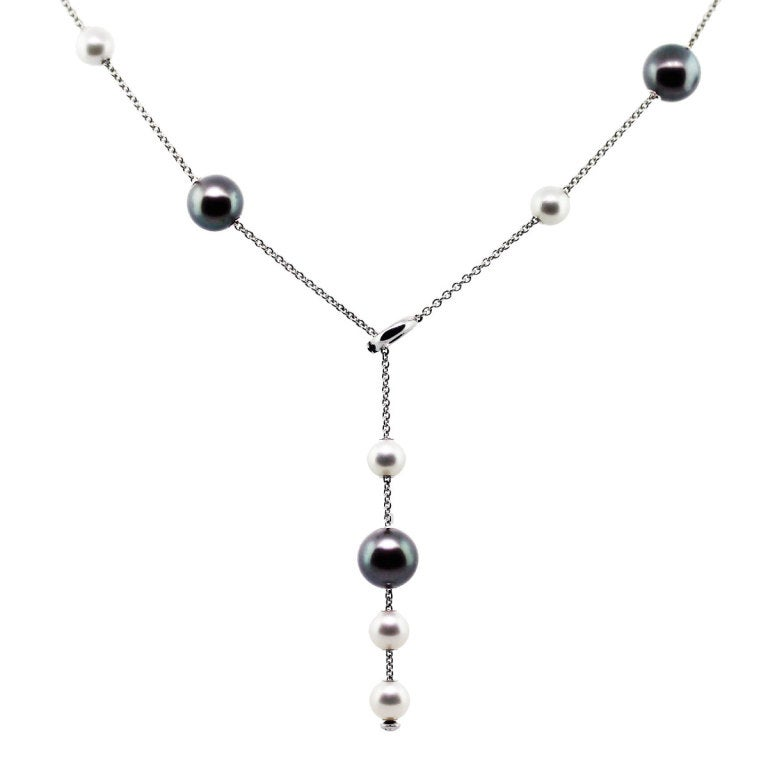 Mikimoto Pearls in Motion Black South Sea Akoya Pearls Necklace image 3