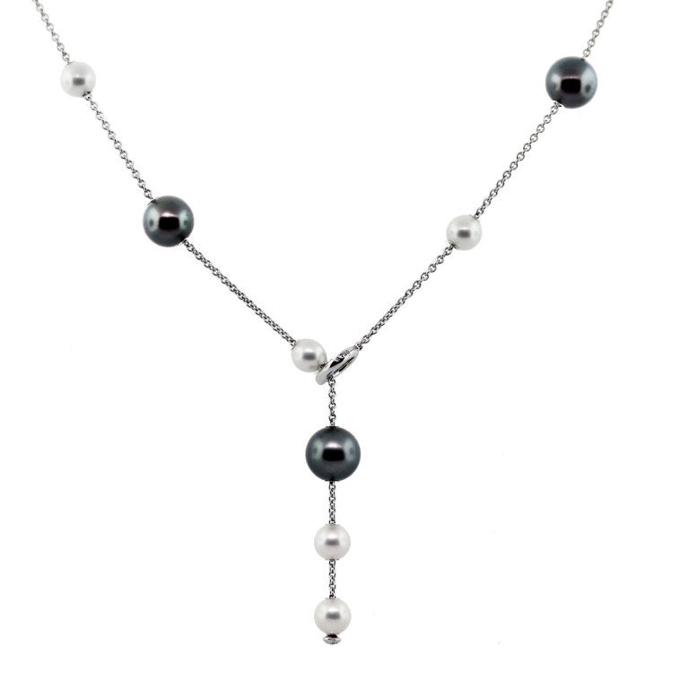 Mikimoto Pearls in Motion Black South Sea Akoya Pearls Necklace image 4