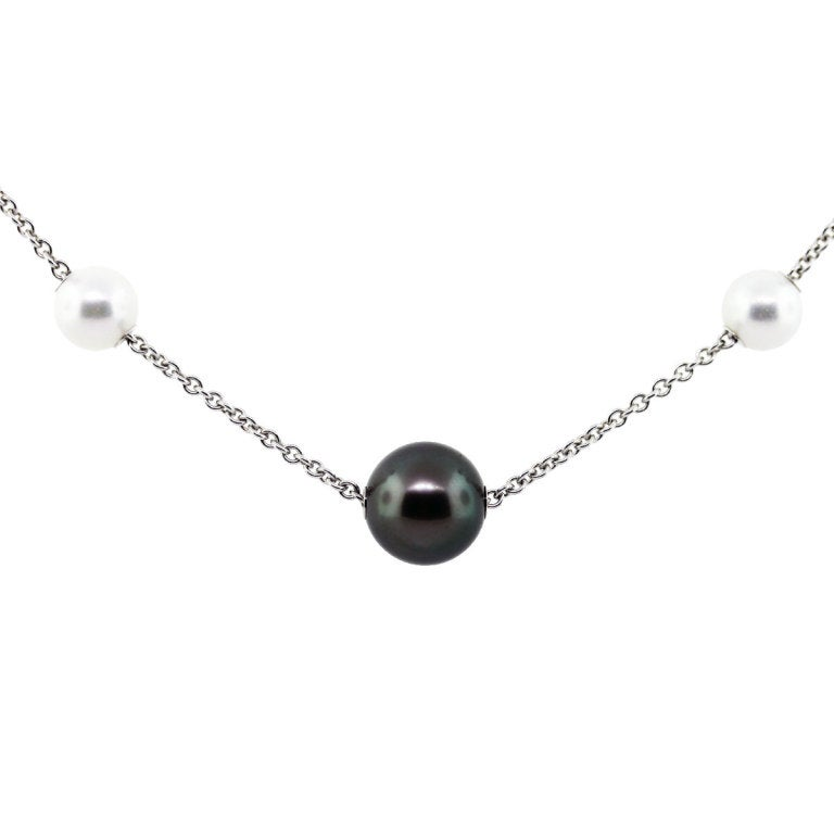 Mikimoto Pearls in Motion Black South Sea Akoya Pearls Necklace image 8