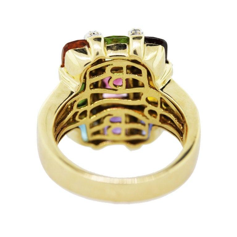 bellari yellow gold semi precious gemstone ring