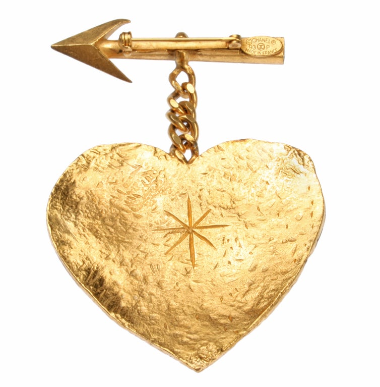 CHANEL Heart and Arrow Brooch Cambon Paris at 1stdibs
