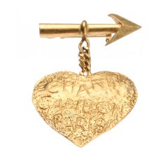 CHANEL  Heart and Arrow  Brooch Cambon Paris