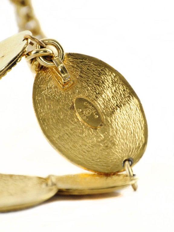 Vintage Chanel Gold Belt with Angel Design For Sale 3