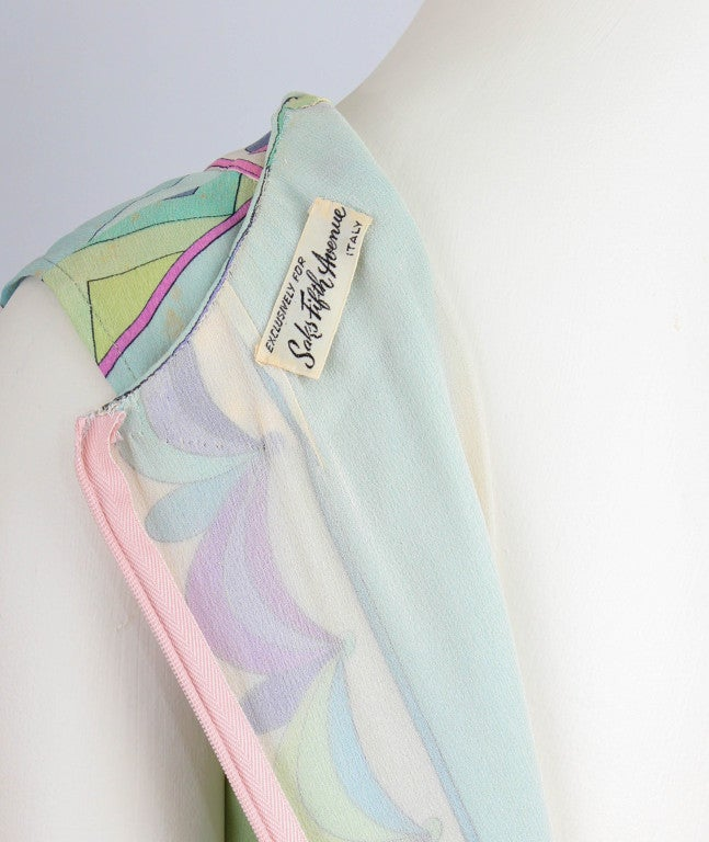 Emilio Pucci Pastel Sheath Mini Dress image 4
