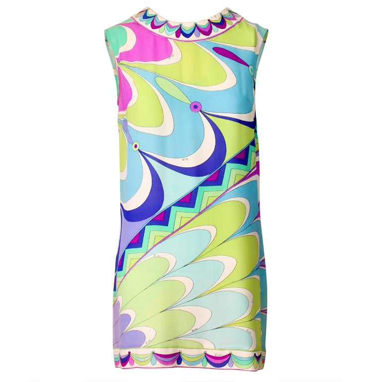 Emilio Pucci Pastel Sheath Mini Dress