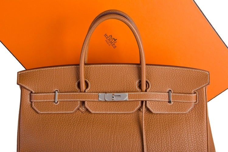 Hermes Birkin Bag 40 cm Gold Togo Leather PHW at 1stdibs