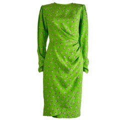Vintage Ungaro Silk Print Dress