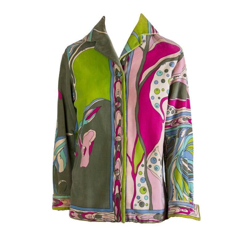Emilio Pucci Velvet  Jacket