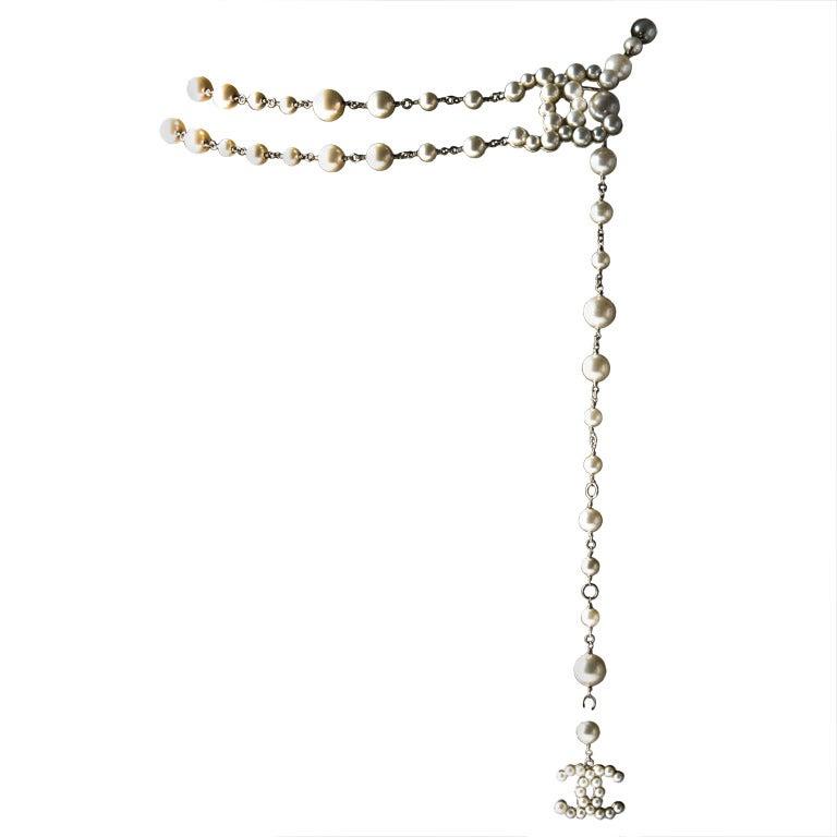 Chanel Fancy Belt  CC logo pearl 2