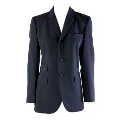 Jean Paul Gaultier Classique Paris Gray Wool Blazer Size 8
