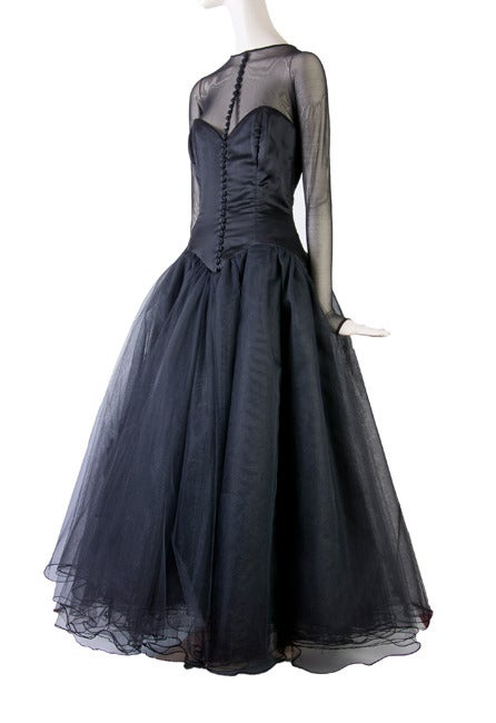 Vicky Tiel Couture Custom Made Black Evening Gown  2
