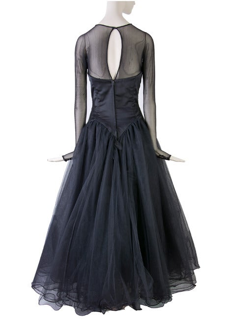 Vicky Tiel Couture Custom Made Black Evening Gown  4