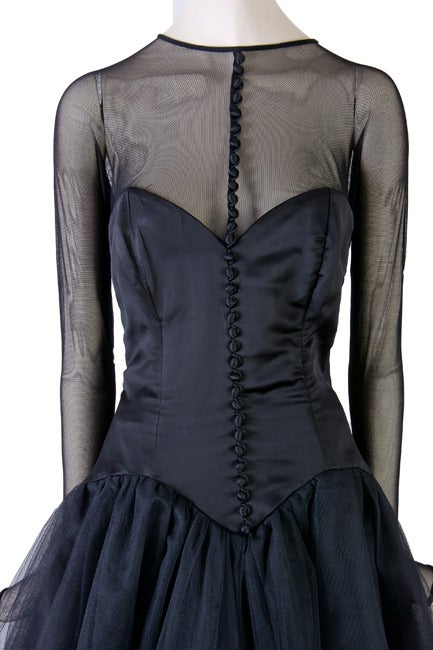 Vicky Tiel Couture Custom Made Black Evening Gown  5