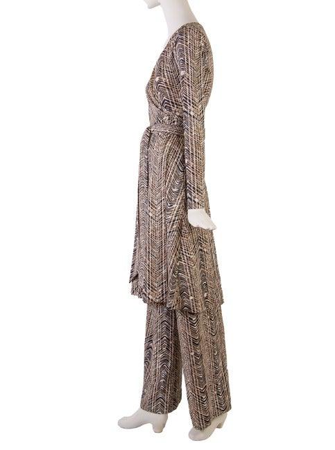Vintage 1970 S Rare Diane Von Furstenberg Print Pant Suit