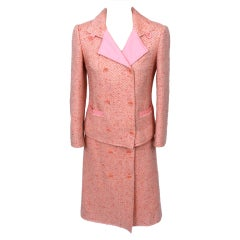 Courreges Pink Tweed Skirt Suit