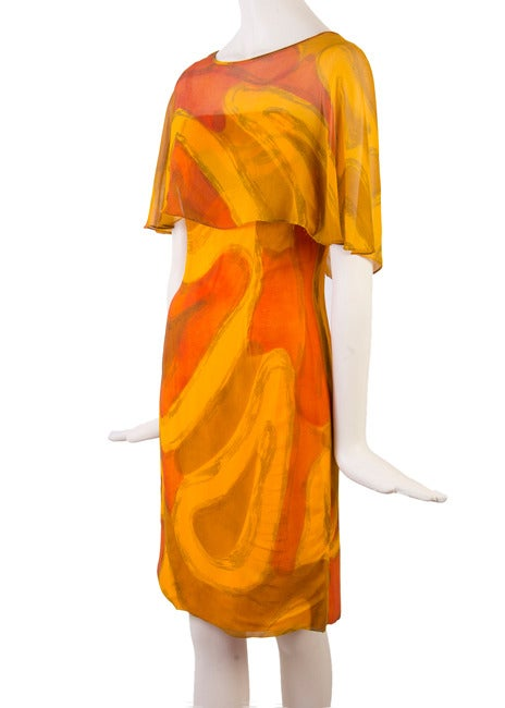 Molly Parnis Boutique Gold and Orange Dress Size 11 2