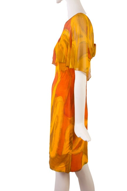 Molly Parnis Boutique Gold and Orange Dress Size 11 3