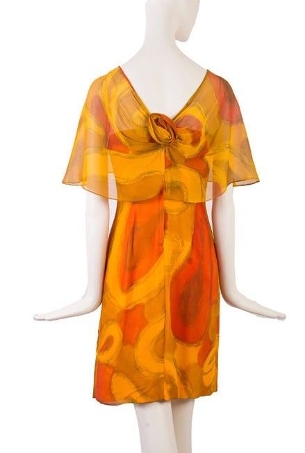 Molly Parnis Boutique Gold and Orange Dress Size 11 4
