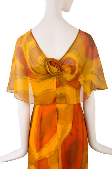 Molly Parnis Boutique Gold and Orange Dress Size 11 5