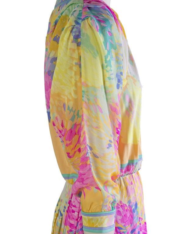 Leonard Vintage Silk Print Dress 5