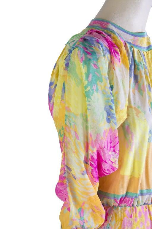 Leonard Vintage Silk Print Dress 6