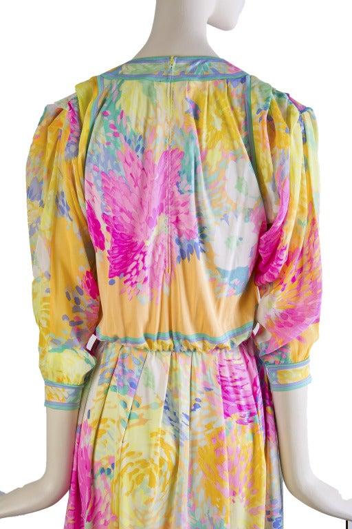 Leonard Vintage Silk Print Dress 7