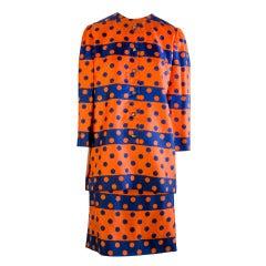 1960's Vintage Jeanne Lanvin Mod Skirt Suit Paris