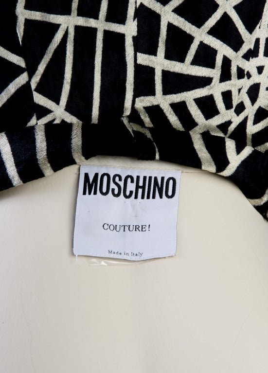 1990's Moschino Spider Web Velvet Pants Size 42 For Sale 2