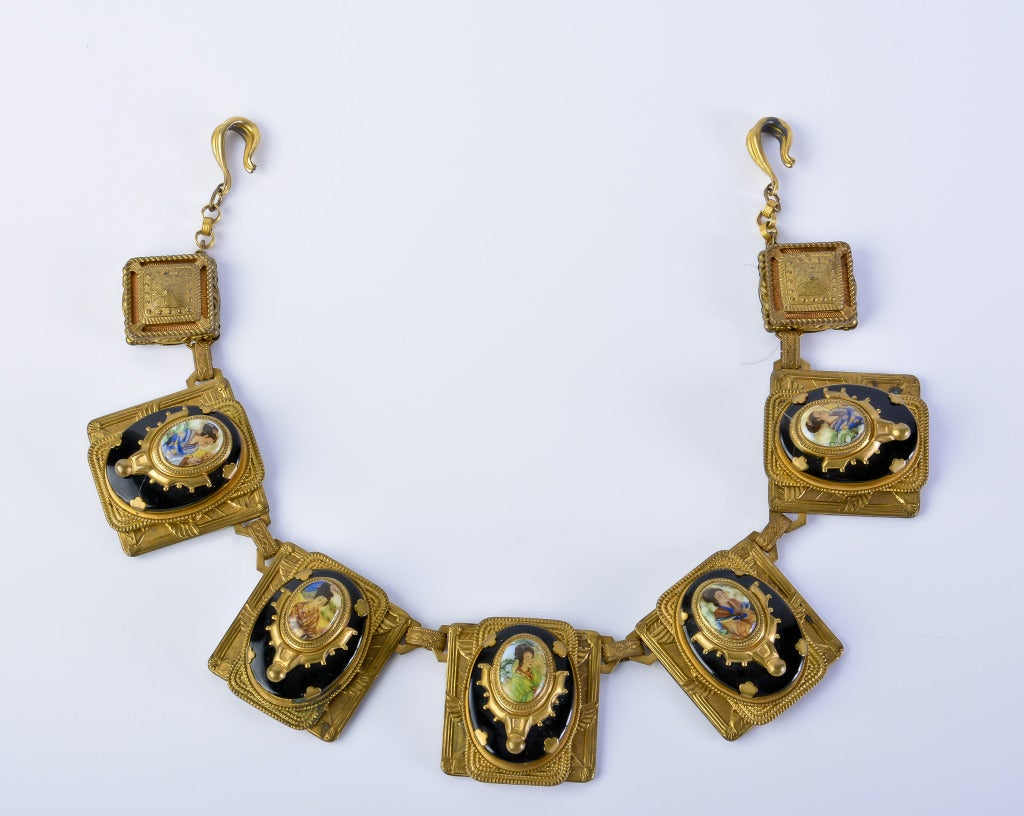 Rare 1920's Egyptian Revival Necklace For Sale at 1stdibs