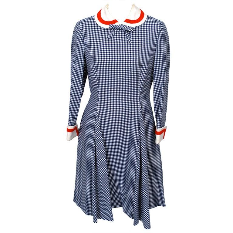 Mollie Parnis Sailor Dress For Sale