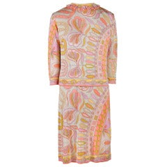 Vintage Emilio Pucci Silk Shell Dress with Matching Top