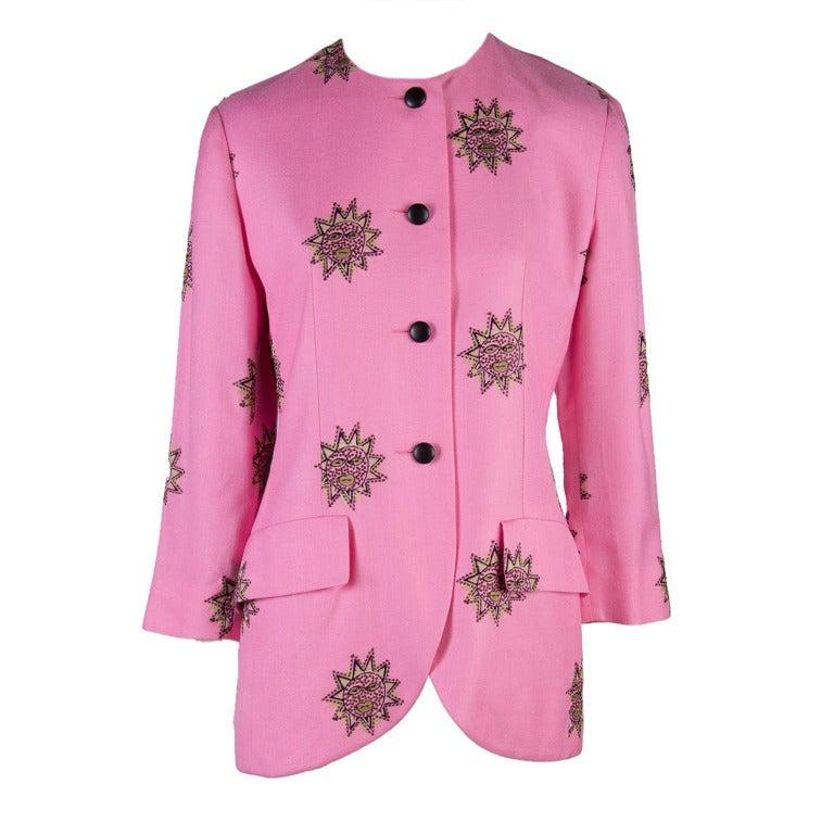 S vintage christian dior bright pink jacket blazer